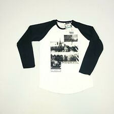 Zoo York Boys Long Sleeve T-Shirt Large 14-16 Black/White