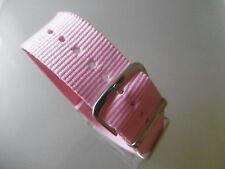 Uhrenarmband  22 mm rosa NATO BAND Dornschließe Textil Durchzugsband rose