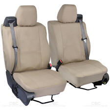Front Pair - Tan Beige Cloth Custom Seat Covers for Ford F-150 2004-08
