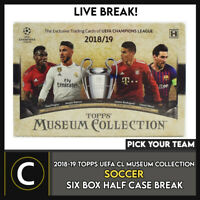 2018-19 TOPPS UEFA MUSEUM SOCCER 6 BOX (HALF CASE) BREAK #S126 - PICK YOUR TEAM