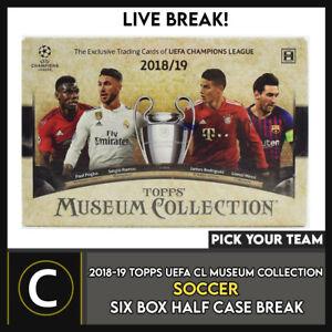 2018-19 TOPPS UEFA MUSEUM SOCCER 6 BOX (HALF CASE) BREAK #S126 - PICK YOUR TEAM
