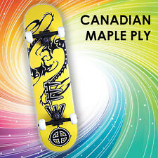 """Element Complete Skateboard: 31"""" Canadian Maple Ply - Dragon [Electric Yellow]"""