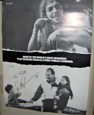 Peter Erskine Autographed Zildjian Cymbals 1989 Promo Poster Weather Report Cool