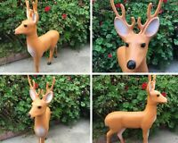 "Vtg Reindeer 35"" Blow Mold Christmas Yard Union Products Indoor Outdoor 1989"
