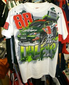 OUTERSTUFF #88 KIDS YOUTH TEE TOTAL PRINT DALE EARNHARDT JR XL X LARGE 14/16 NWT
