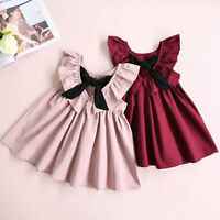 Girls Casual Dress Kids Summer Party Dresses Age 2-7 Years Wedding Sundress NEW