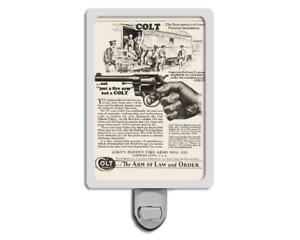 1929 Colt Advertisement Fire Arms Hartford .38 Revolver Nightlight