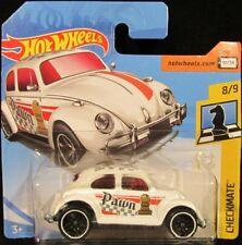 Hot Wheels Volkswagen Beetle WHITE #364 2018 new on short card