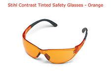 Stihl Contrast Safety Glasses. Orange. 0000 884 0324