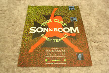 """The Cult 1989 ad Ian Astbury for """"Sonic Boom"""" & Carole King for """"City Streets"""""""