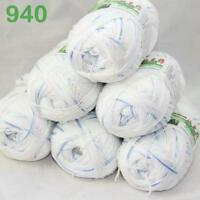 Sale Lot 6 ballsx50g Super Soft Bamboo Cotton Baby Hand Knitting Crochet Yarn 40