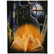 BEWITCHED Canvas Wall Art Plaque LISA PARKER cat wicca fantasy