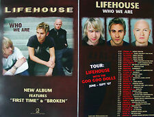 LIFEHOUSE Who We Are PROMO Two Sided Poster JASON WADE Bryce Soderberg RARE New!