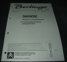 Werkstatthandbuch Citroen Berlingo I Diagnose Multiplex Fahrerinformation 2000!