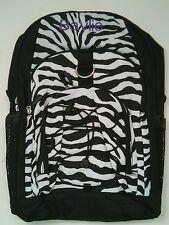Pottery Barn PB Teen Black White Zebra Gear Up Large Backpack name BAYLIE New