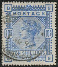 Victoria 1883-84 10s. ultramarine, VFU (SG#183)