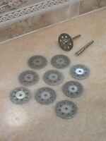 "Diamond tipped rotary cutting cut off wheel disc blades 10pc 45mm 1 3//4/"" inch"