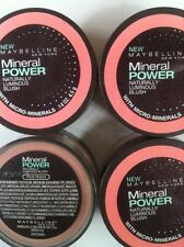 4 X Maybelline Mineral Power Naturally Luminous Blush (TRUE PEACH) NEW.