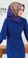ARMINE 2018 esarp Seidentuch 7819 Kopftuch Scarf Tuch Hijab blau Seide Silk