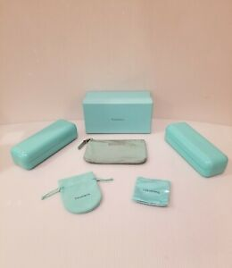 Tiffany & Co. Sunglasses Hard Cases With Cloth, Pouch, and Box Bundle Lot
