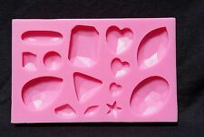 Gems 14 cavity Silicone Mold for Fondant, Gum Paste, Chocolate, Crafts