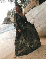 H&M LEOPARD ANIMAL PRINT DRESS WEDDING CHRISTMAS SIZE 8 BLOGGERS SOLD OUT