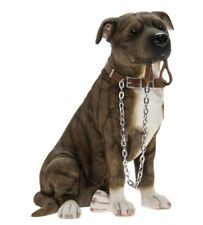 More details for staffordshire bull terrier brown figurine ornament gift boxed