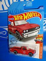 Hot Wheels 2020 Short Card Datsun 620 Pickup Truck Matte Red In Stock in US