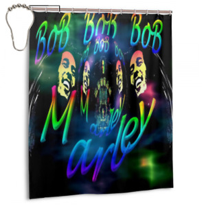 New Design Bath Waterproof Fabric Decor Bob Marley Shower Curtain 60x 72 Inch