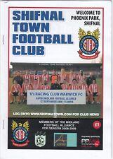 Shifnal Town v Racing Club Warwick 2008/9 (27 Sep) Midland Alliance