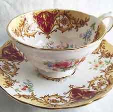 "Vintage Grosvenor Bone China Teacup and Saucer ""Balmoral"" Pattern"