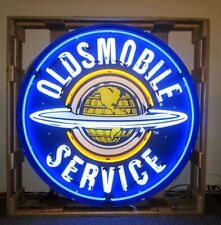 Oldsmobile Service in Steel Can Neon Sign