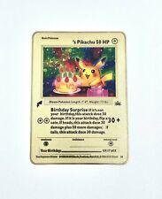 Pokemon Happy Birthday  Pikachu Gold Metal Card Custom Black Star Promo 24 Rare