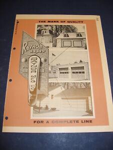 1955 Raynor Overhead Type Garage Door catalog Vintage Retro Planning Dixon, ILL