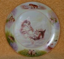 "Bradex Cat Plate ""Nestle Wrestle "" Mint"