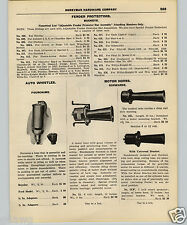 1927 PAPER AD Car Auto Automobile Fourchame Whistle Schwarze Motor Horn