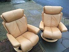 Two Stressless Magic Medium Recliner Chairs