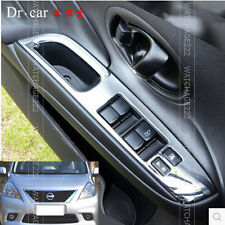 FIT FOR NISSAN VERSA 12- ALMERA CHROME INSIDE DOOR WINDOW SWITCH PANEL COVER