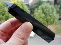 New 90-120MM Natural obsidian Quartz Crystal single Terminated Wand Healing