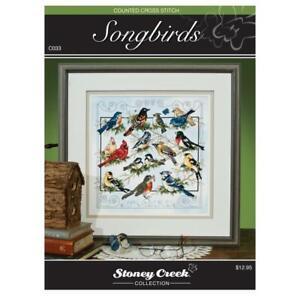 STONEY CREEK Cross Stitch Pattern Leaflet SONGBIRDS Birds C070
