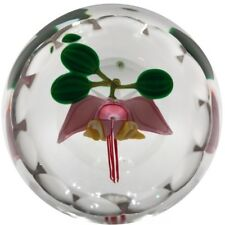 Perthshire Faceted Art Glass Paperweight Lampwork Cacao Flower 1987C LE of 172