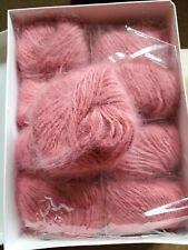 New listing Vintage Aca Supreme 100% Pure Angora Rabbit Yarn France 9 Balls Rosewood