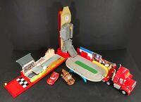 Disney Pixar Cars Playset Rare Mega Mack Playset World Mega McQueen and Mater