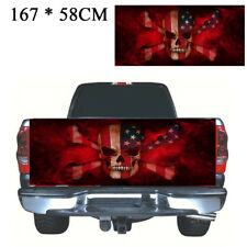 Universal Flame Skull Truck Pickup Tailgate Graphics Decal Sticker Styling Decor