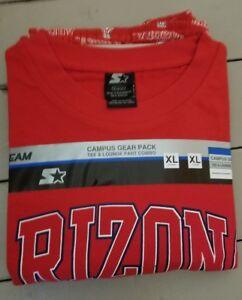 NCAA ARIZONA WILDCATS STARTER CAMPUS GEAR TEE & LOUNGE PANT COMBO MENS XL NEW
