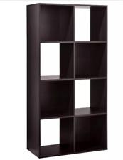 "11"" 8 Cube Organizer Shelf Storage Decor Espresso"
