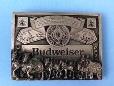 Vintage BUDWEISER Clydesdales Budweiser King of Beers Pewter Belt Buckle