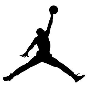 "Air Jordan Jumpman Logo 3"" Michael Jordans MJ 23 Die Cut Vinyl Decal Sticker 2x"