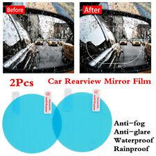 2Pcs Anti-glare Fog Mist Coating Rainproof Waterproof Car Rearview Mirror Film