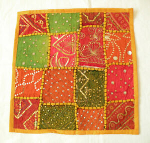 Embroidered Patchwork Sequins Cushion / Pillow Cover / Throw Slip Case